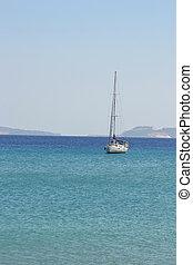 jacht, vitorlázás, tenger