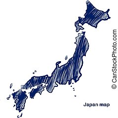 japán, térkép
