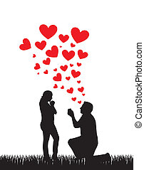 javaslat, esküvő