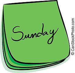 jegyzet, vasárnap