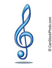 jegyzet, zene, sima