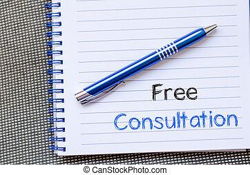 jegyzetfüzet, szabad, konzultáció, ír