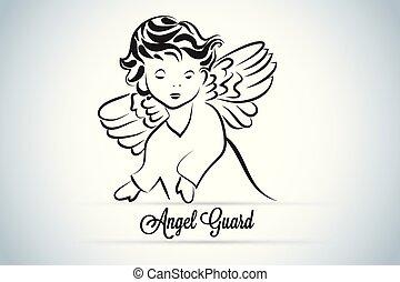 jel, őr, angyal, gyermek