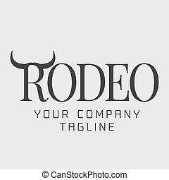 jel, amerikai, vektor, rodeó