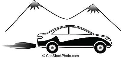 jel, autó, gyorsan