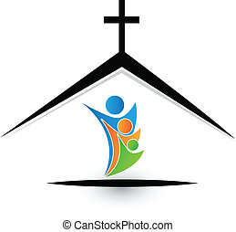 jel, család, templom