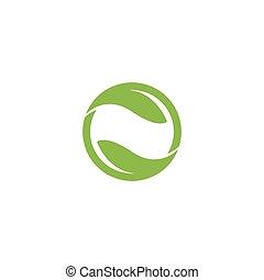 jel, eco-friendly, tervezés, levél növényen, vektor