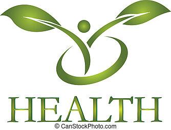 jel, egészséges, vektor, élet