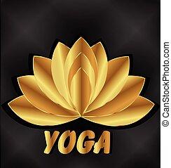 jel, elmélkedés, lótusz, jóga