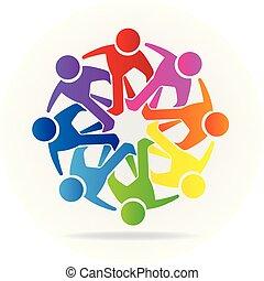 jel, emberek, barátság, közösség, csapatmunka