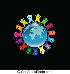 jel, emberek, mindenfelé, világ