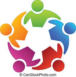 jel, emberek, változatosság, csapatmunka