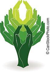 jel, fa, zöld, kézbesít