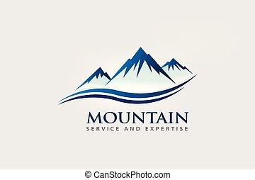 jel, hegy, lenget, csúcs, megkettőz