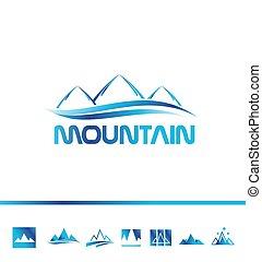 jel, ikon, hegy, idegenforgalom