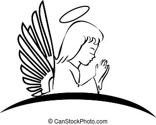 jel, imádkozás, angyal, kreatív