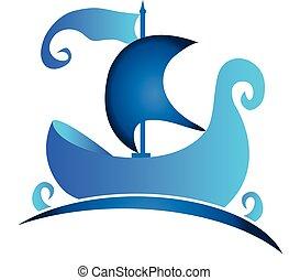 jel, jelkép, csónakázik