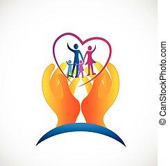 jel, jelkép, egészség, család, törődik