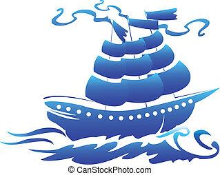 jel, jelkép, hajó, kalóz