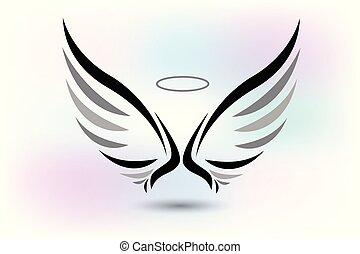 jel, kasfogó, angyal, ikon