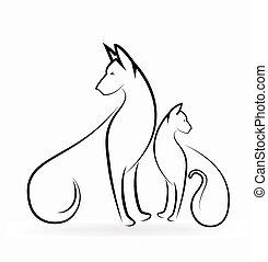 jel, kutya, macska