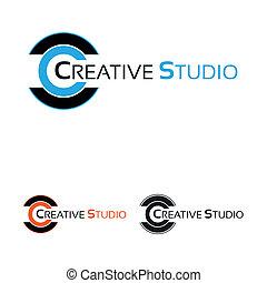 jel, munka, műterem, kreatív