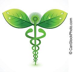 jel, orvosi, természetes, jelkép