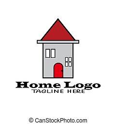 jel, otthon, tervezés, ábra, ikon, vektor