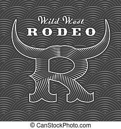 jel, rodeó, vektor