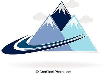 jel, swooshes, hegy