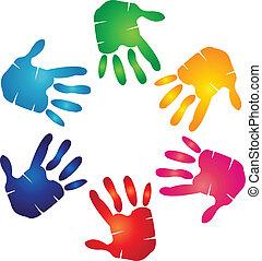jel, színes, kézbesít
