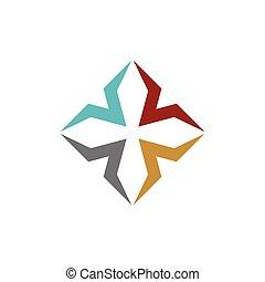 jel, színes, sablon, 10., eps, design., vektor, kereszt, ábra, díszítő