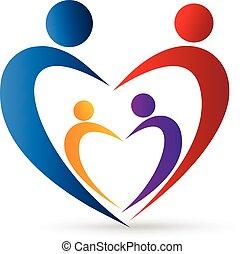 jel, szív, család, egyesítés