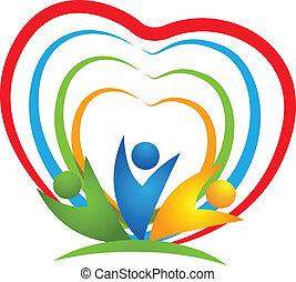jel, szív, emberek, kapcsolatok