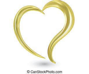 jel, szív, swoosh, valentines