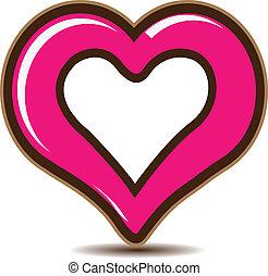 jel, szív, vektor, nap, valentines