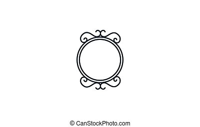 jel, szüret, vektor, ikon, ábra, öreg, tükör