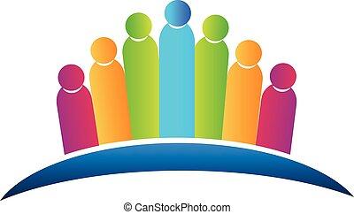 jel, társadalmi, csapatmunka, emberek