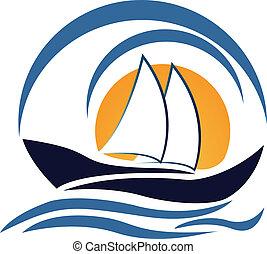 jel, tervezés, jacht, csónakázik