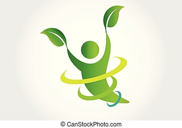 jel, vektor, egészség, természet