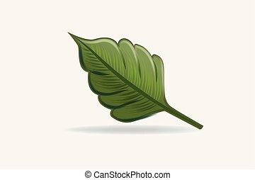 jel, vektor, egészség, természet, levél növényen