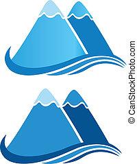 jel, vektor, hegyek