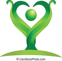 jel, vektor, zöld, alak, természet