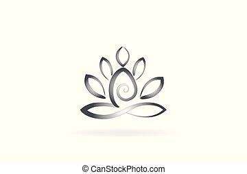 jel, virág, yoga bábu