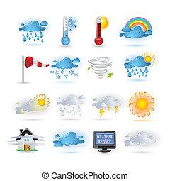 jelent, ikon, időjárás, állhatatos