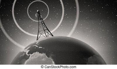 jelez, rádióközvetítés, retro, antenna