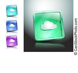 jelkép, ábra, aláír, vektor, felhő, ikon