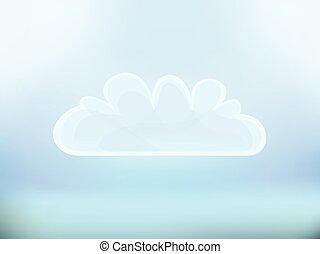 jelkép, ábra, deisgn, vektor, felhő, ikon