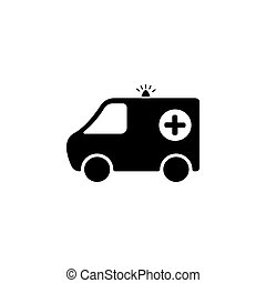 jelkép, ábra, vektor, egészség, (sign), mentőautó, icon.