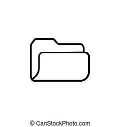 jelkép, ábra, vektor, icon., (sign), irattartó, archív